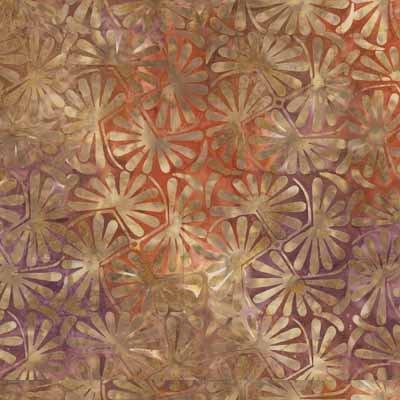 Wilmington Batiks 22137-532 Orange-Tan Paisley
