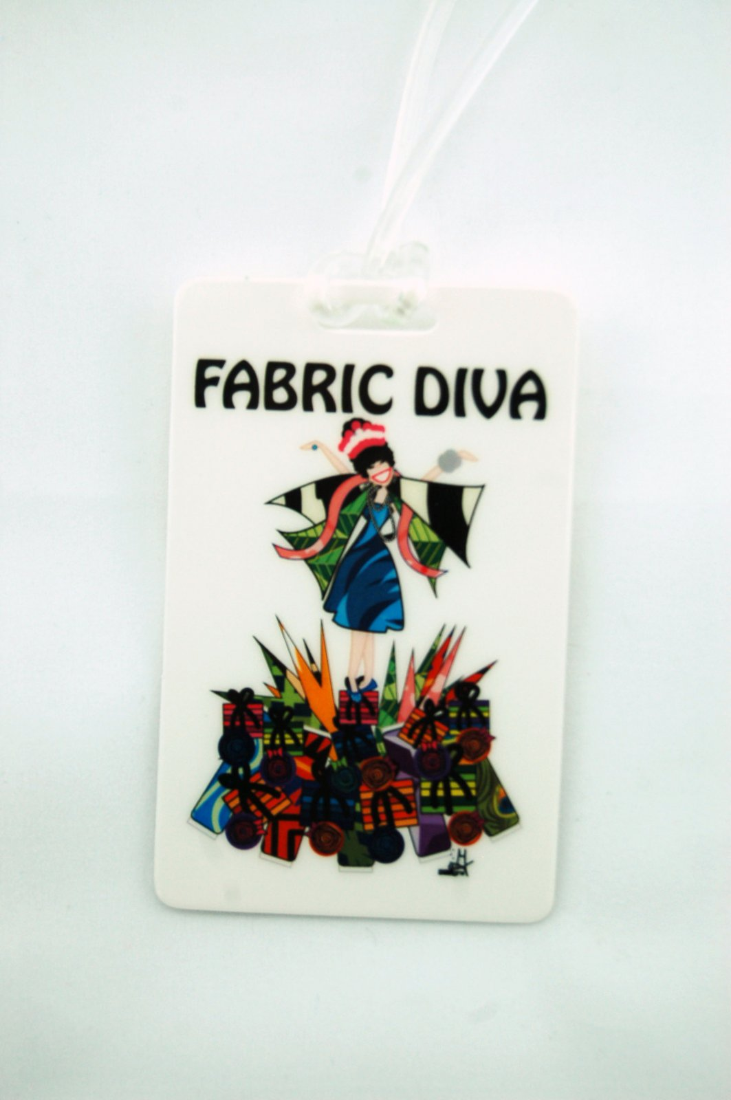 Fabric Diva Luggage Tag
