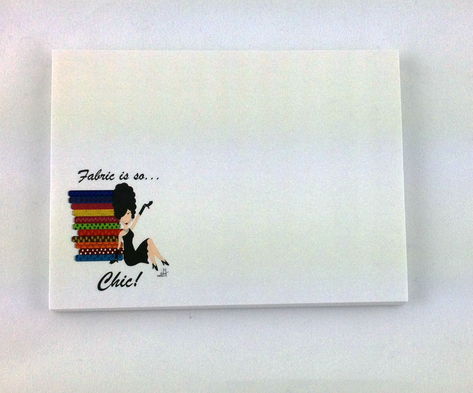 Fabric is So Chic Sticky Note Pad