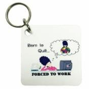 Born To Quilt Forced To Work Key Ring