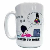 Born To Quilt Forced To Work Mug