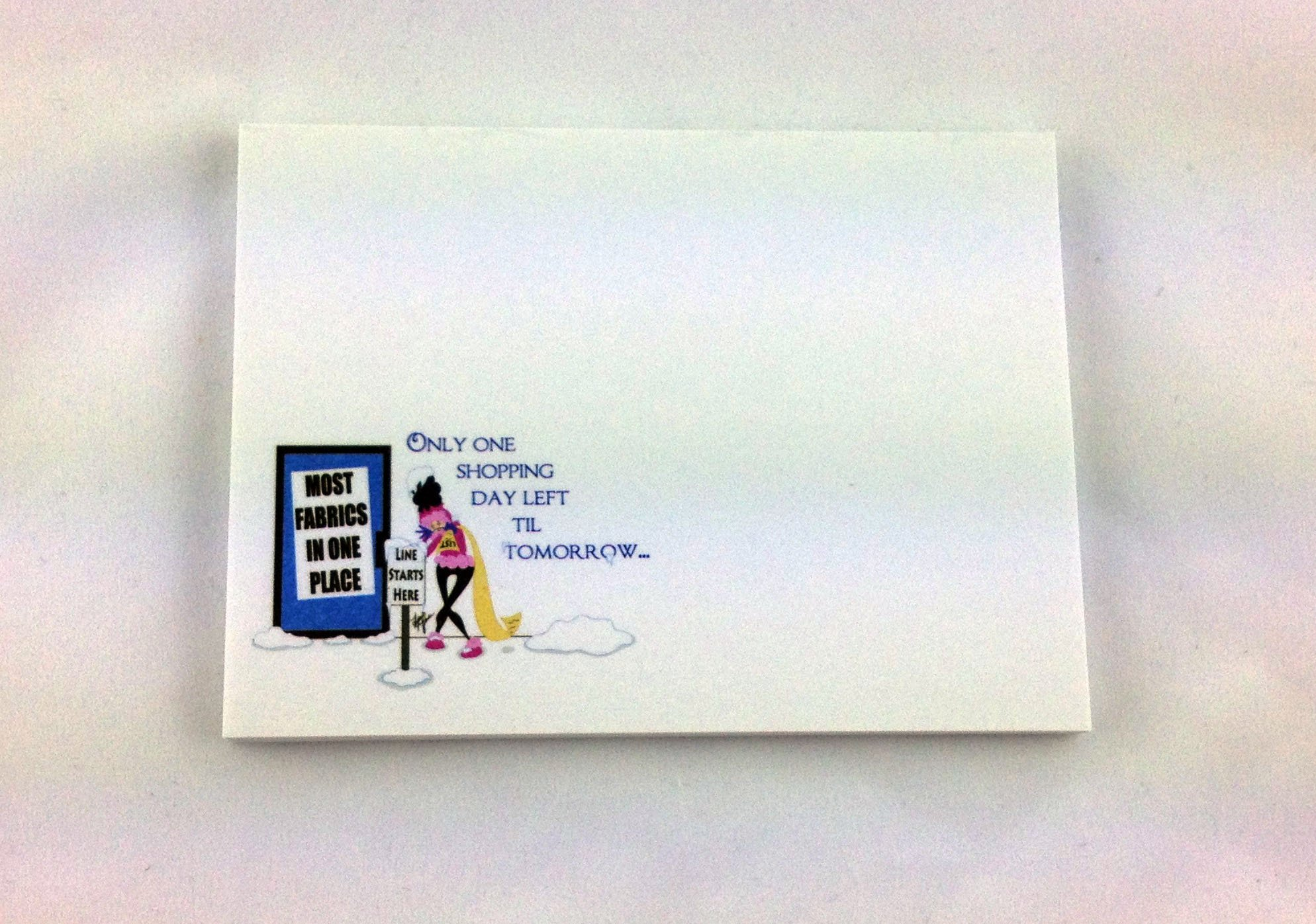 One Shopping Day Left Sticky Note Pad