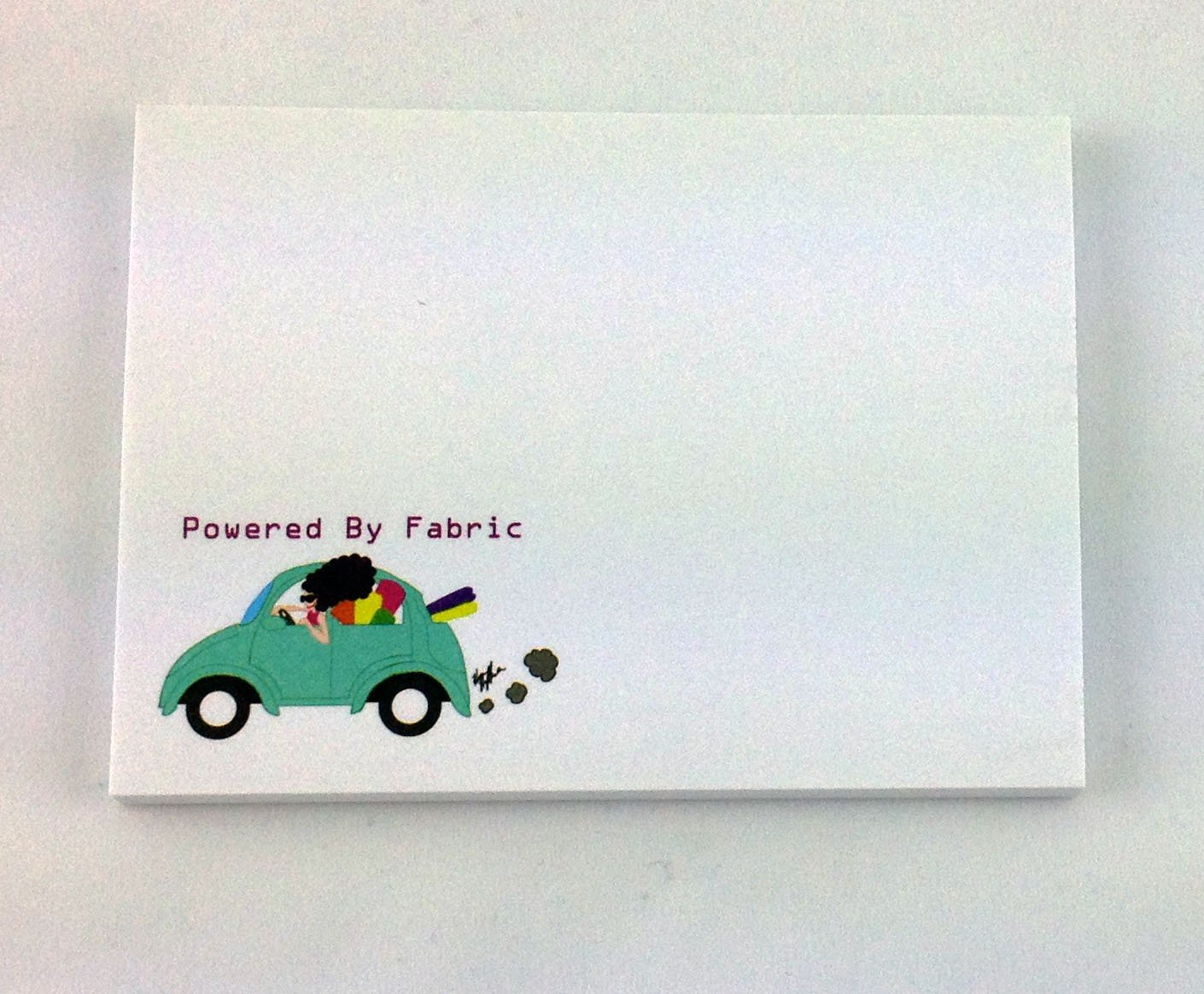 Powered by Fabric Sticky Note Pad