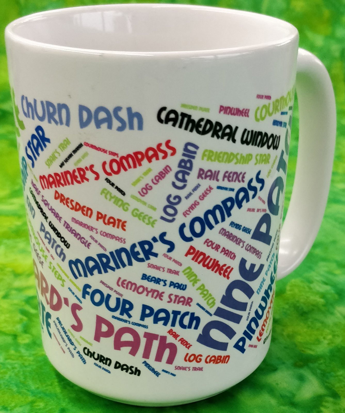 Mug - Quilting Words - in store or curbside
