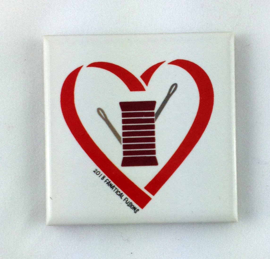 Heart with spool and needle magnet