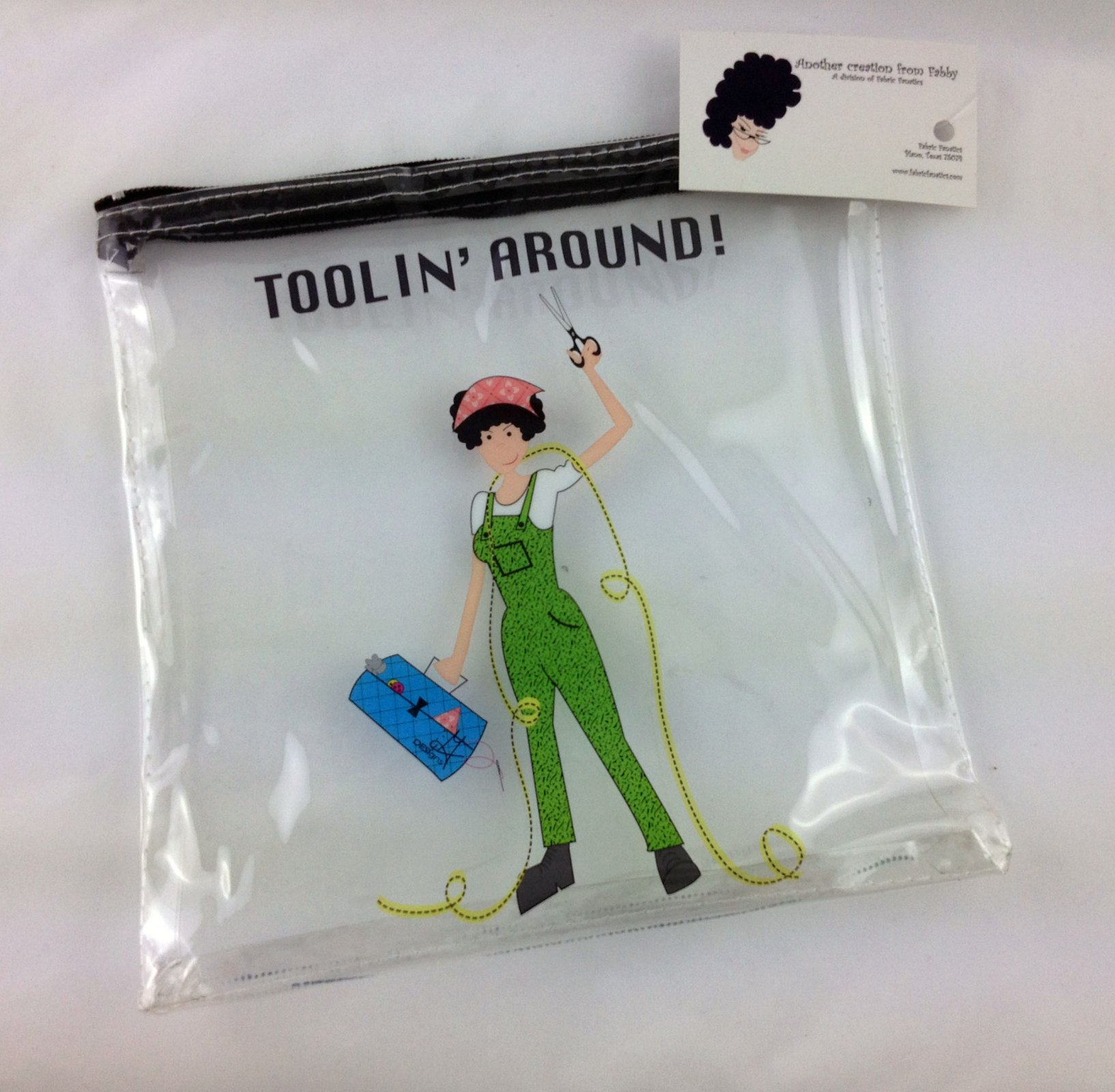 Vinyl Project Bag- Toolin Around (small 9x9)