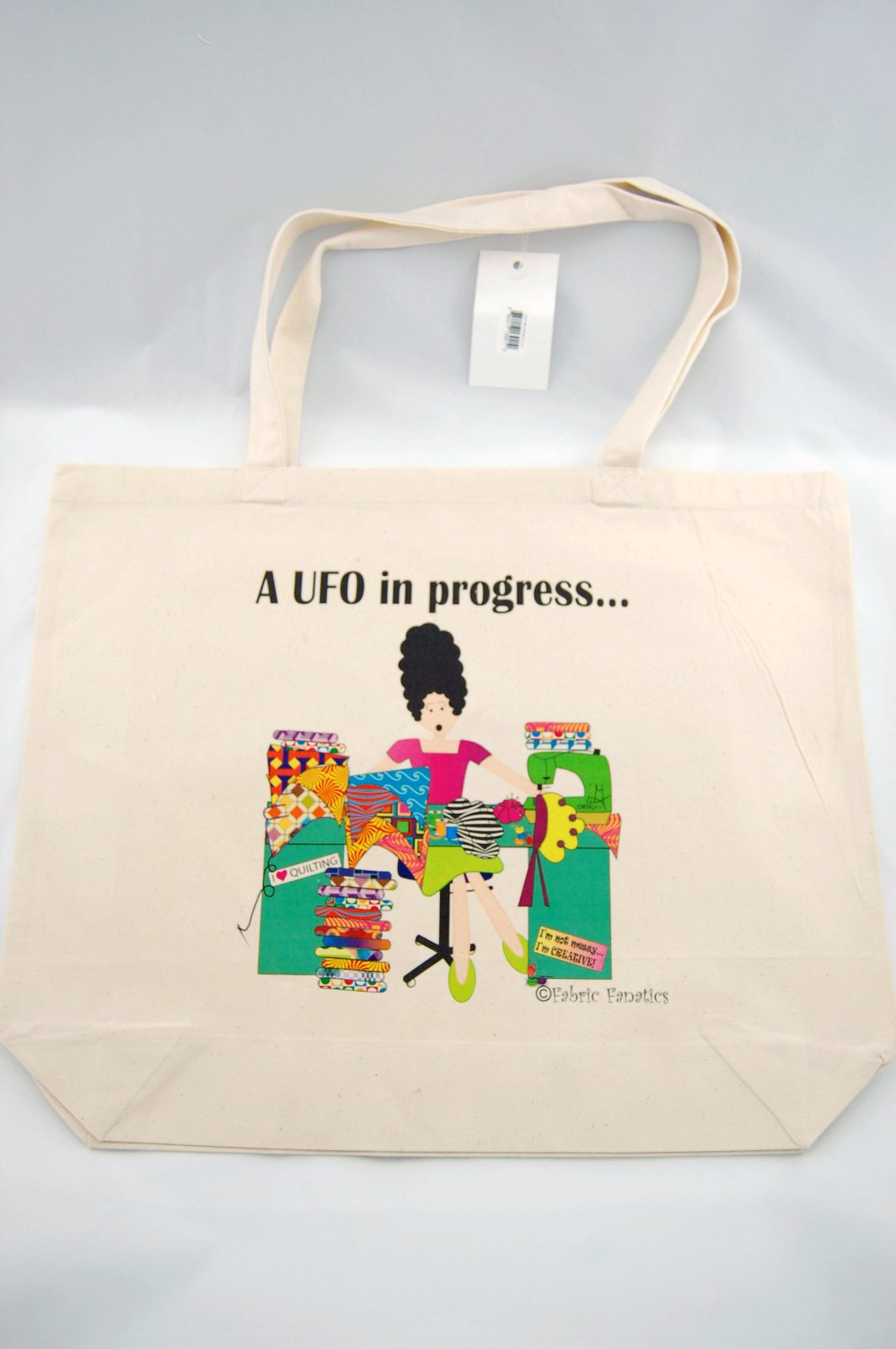 UFO in Progress Canvas Bag