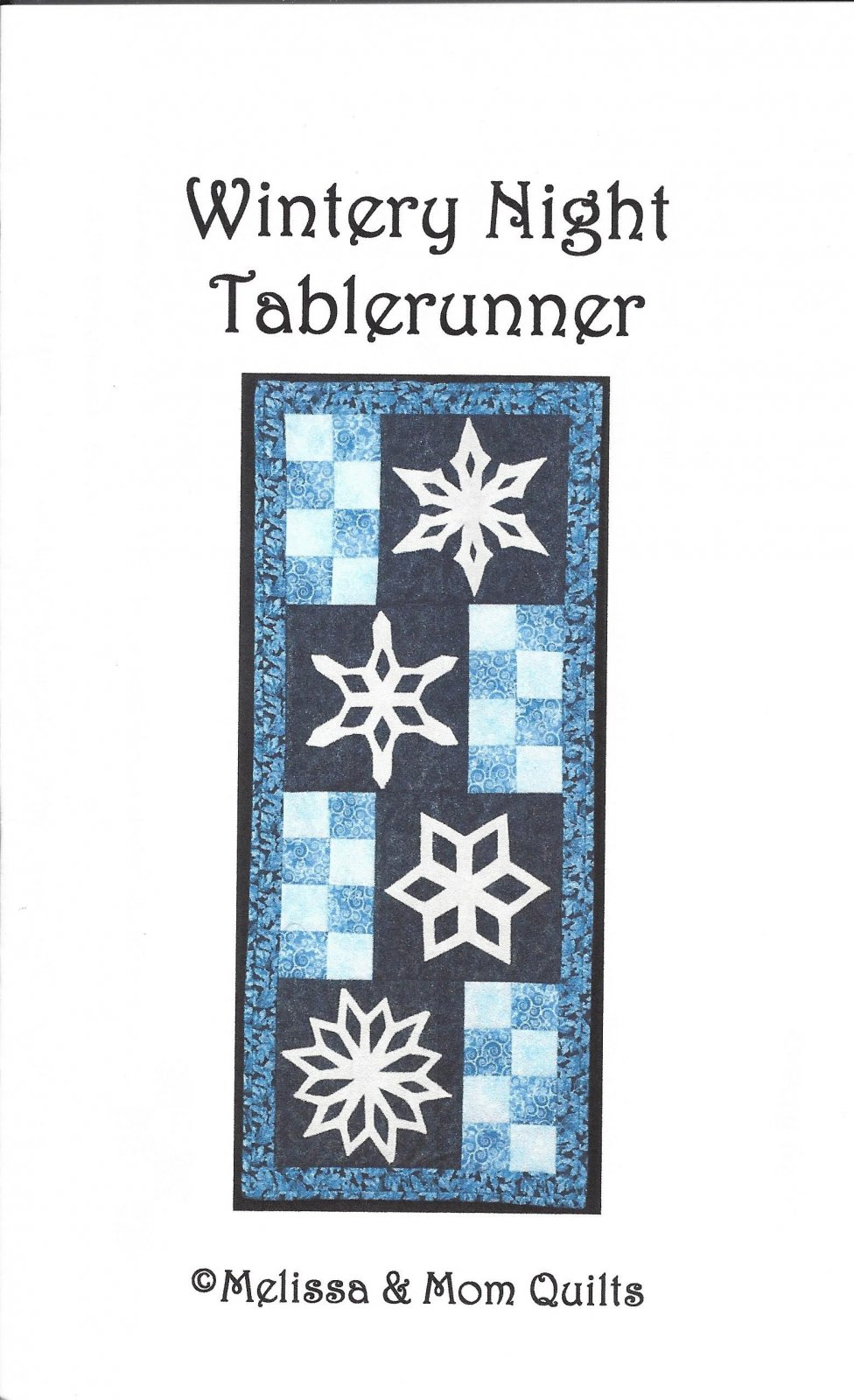 Wintery Night Table Runner