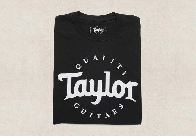 Taylor Black T-Shirt w/White Logo