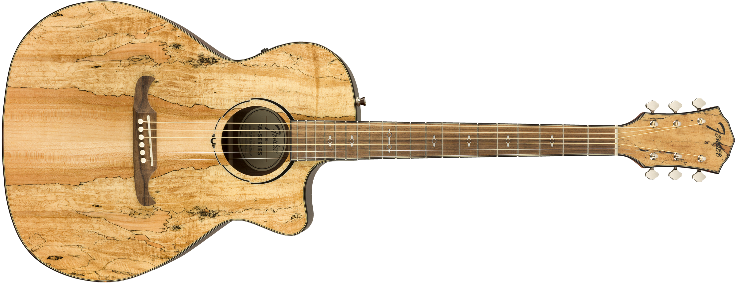 Fender 2019 LIMITED EDITION FA-345CE AUDITORIUM, SPALTED MAPLE TOP