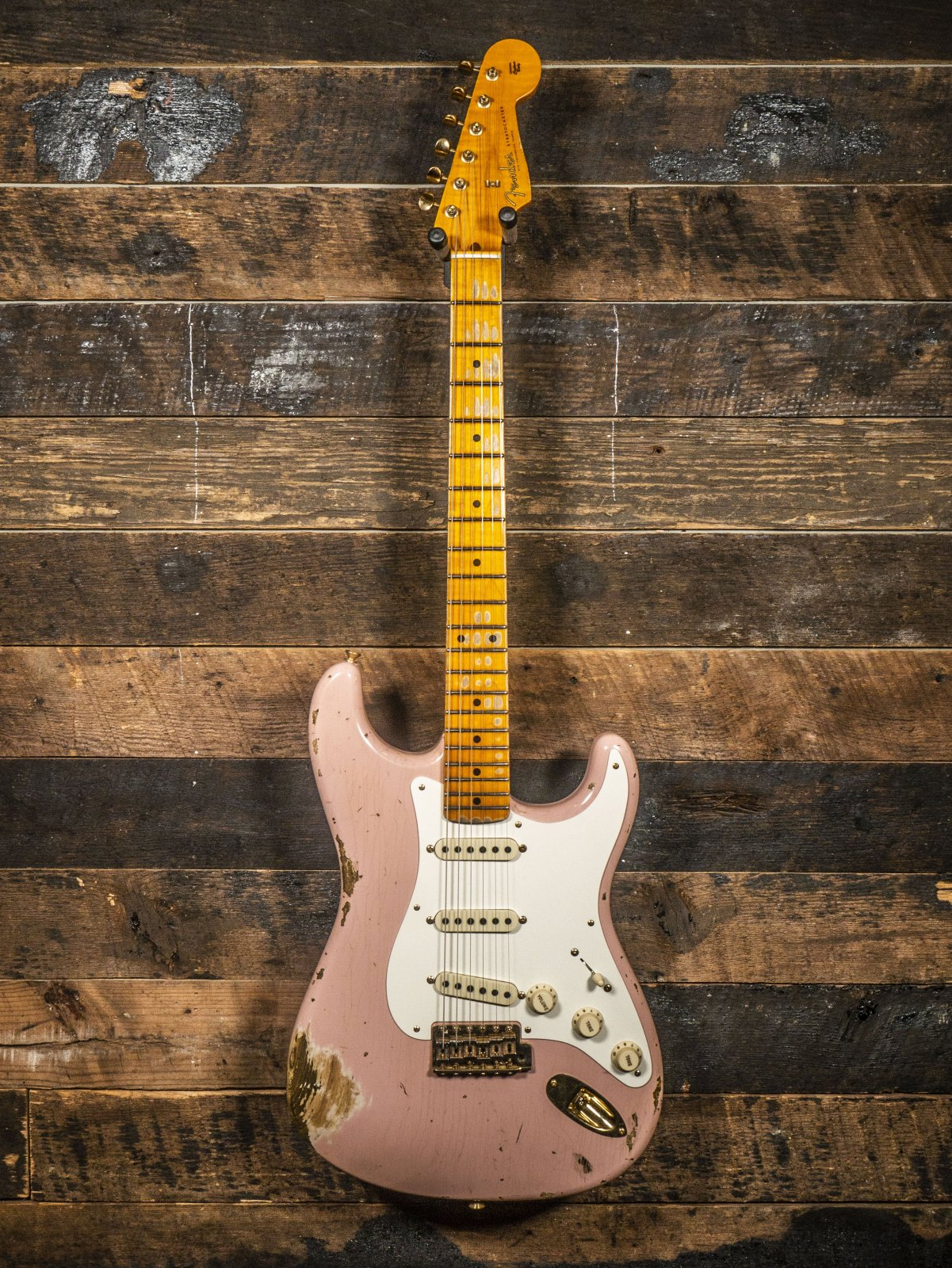 Fender Custom Shop 57 Super Faded Heavy Relic Stratocaster Aged Shell Pink