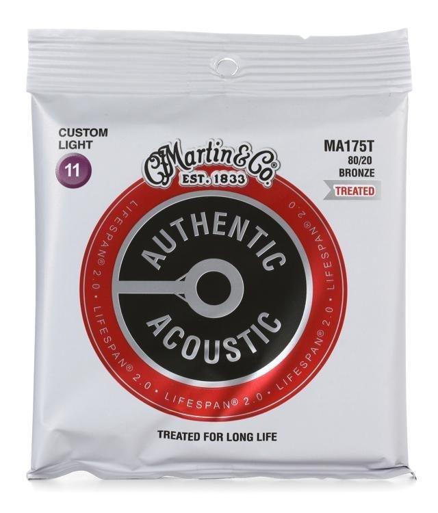 Martin 175T Treated Acoustic Strings Custom Light