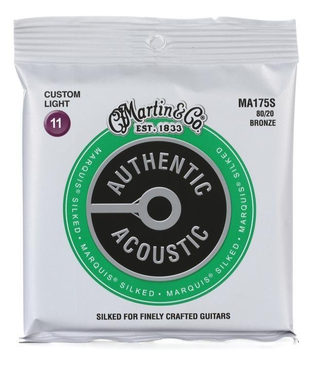 Martin MA175S Acoustic Strings Custom Light Silked