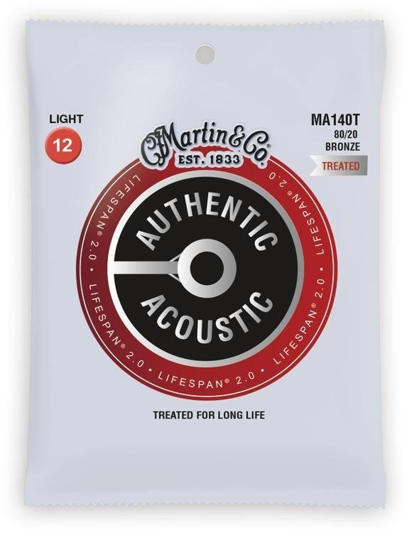 Martin MA140T Treated Acoustic Strings Light