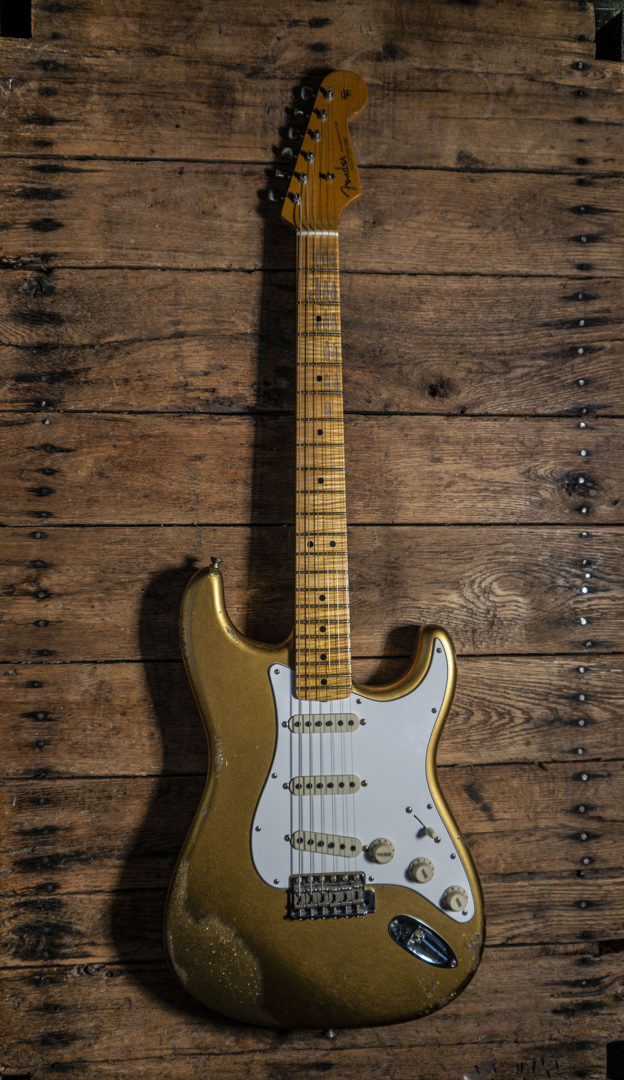 "Fender Custom Shop 2017 ""Limited 1964 Stratocaster"" Relic Guitar Aztec Gold and Sparkle Aged"