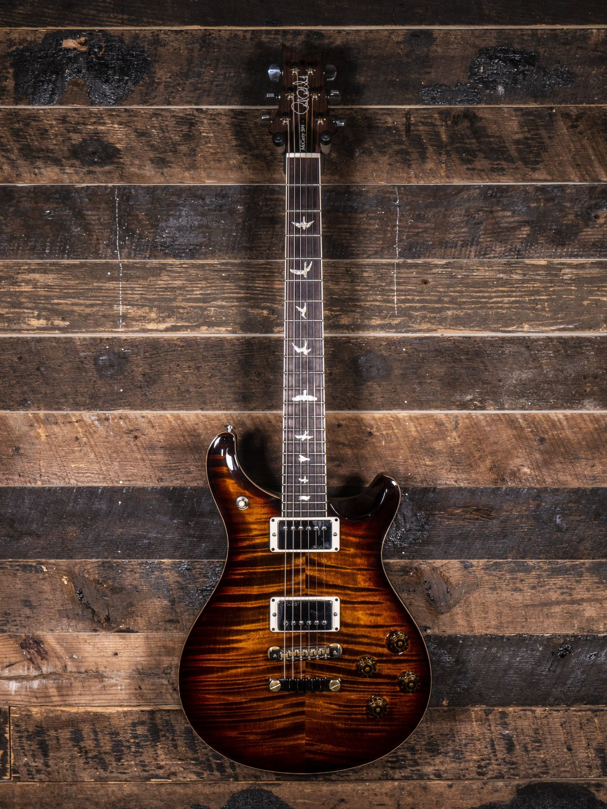 PRS McCarty 594 10 Top Select Western Maple Top Black Gold Non-Wrap
