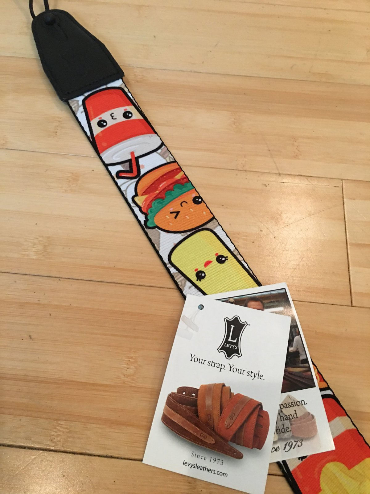 Levy's 2 sublimation printed guitar strap with le MPS2-131