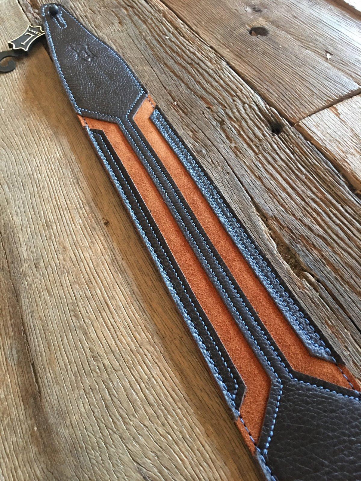 Levy's 2 1/2 garment leather guitar strap MGS317HWK-DBR