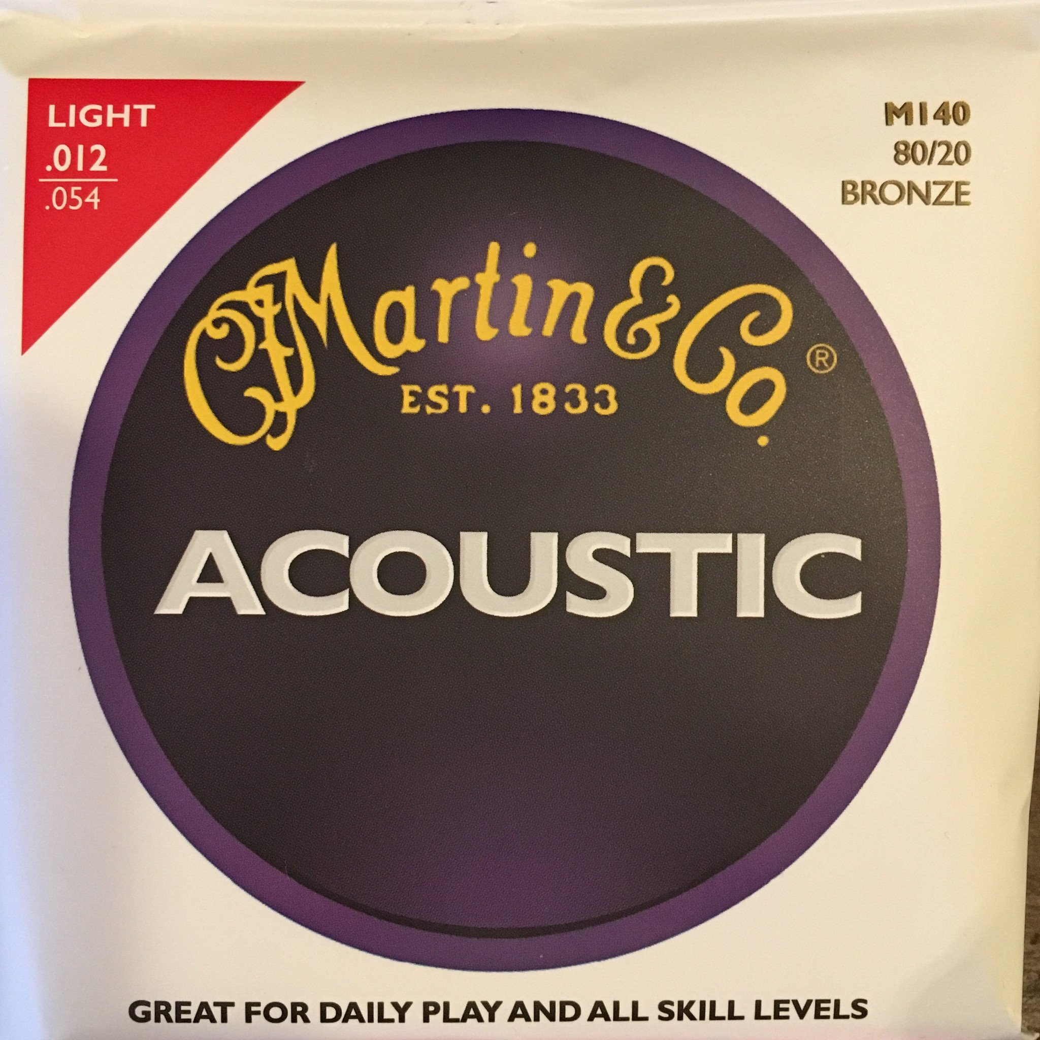 Martin M140 80/20 Bronze Light Strings