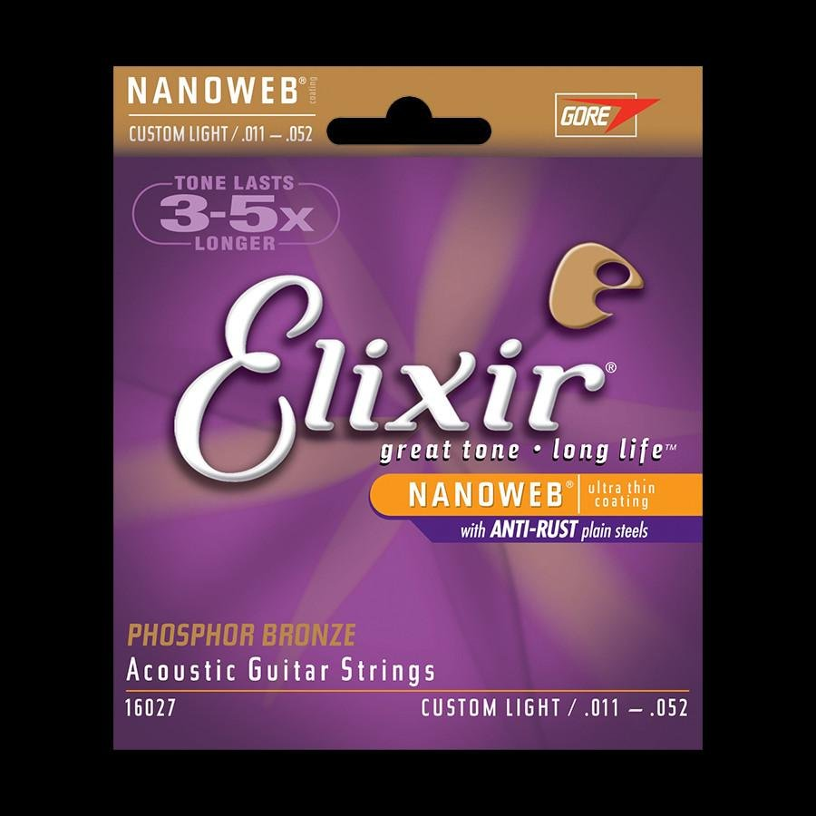 Elixir Custom Light Acoustic Guitar Strings
