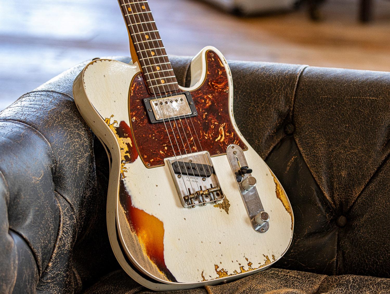 NAMM SHOW LTD 1960 HS Fender Custom Shop Telecaster Custom Aged Olympic White Over 3TSB