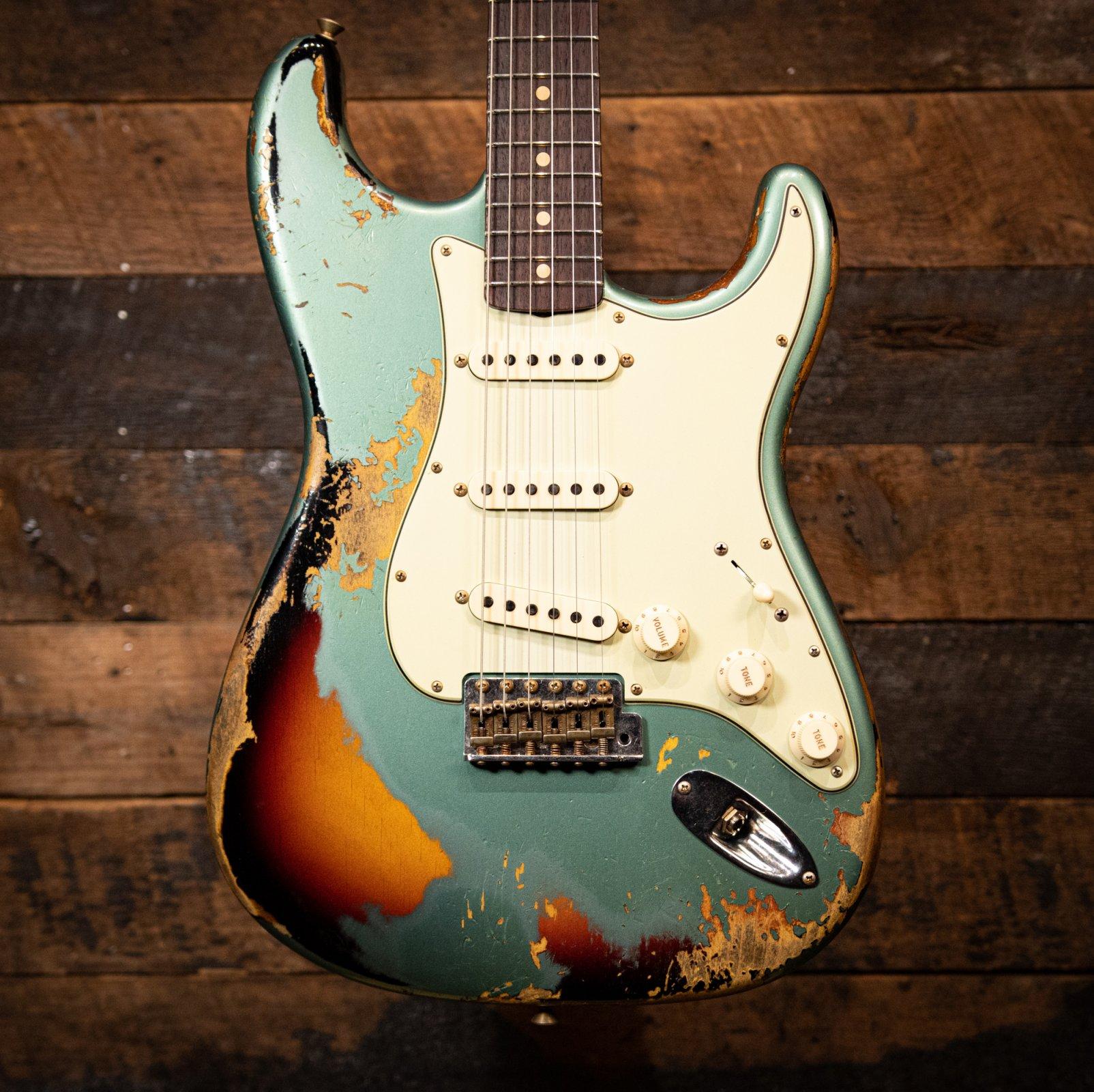 NAMM SHOW 1960/63 Fender Custom Shop Stratocaster Super Faded/Aged Sherwood Green over 3TSB