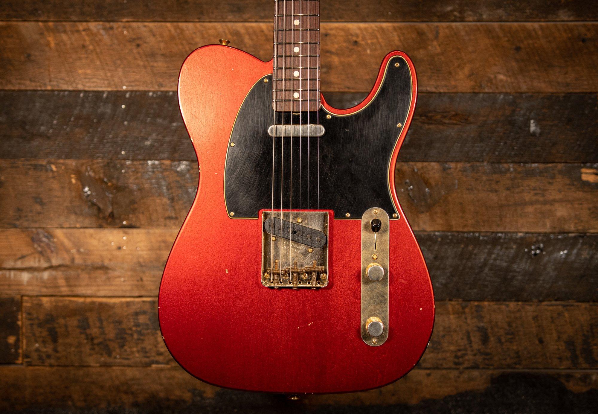Fender Custom Shop Masterbuilt Yuriy Shishkov 1960 Journeyman Relic Telecaster Candy Apple Red