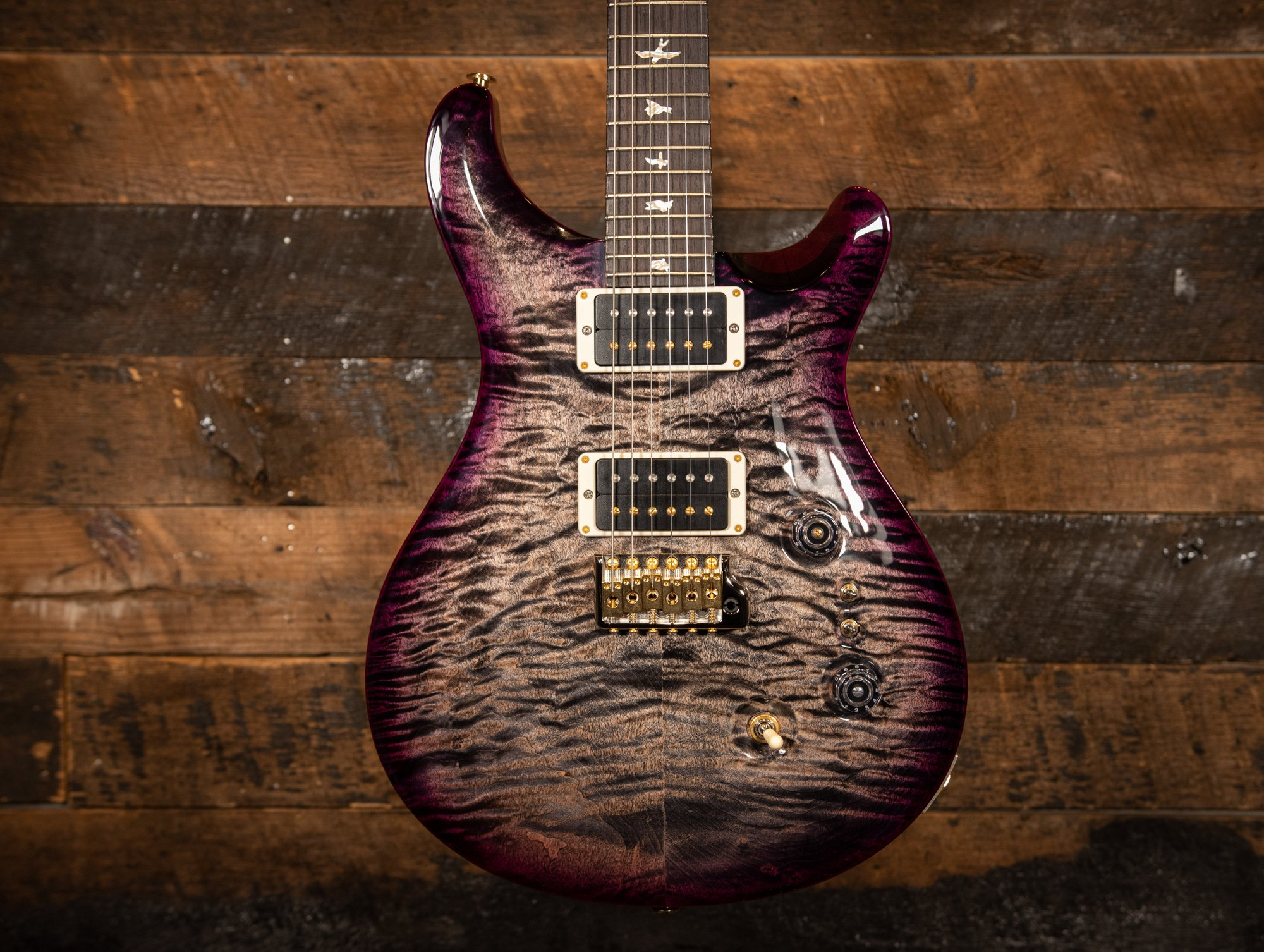 PRS 35th Anniversary Custom 24 10 Top Charcoal w/Purple Burst Custom Color (Hand Selected)