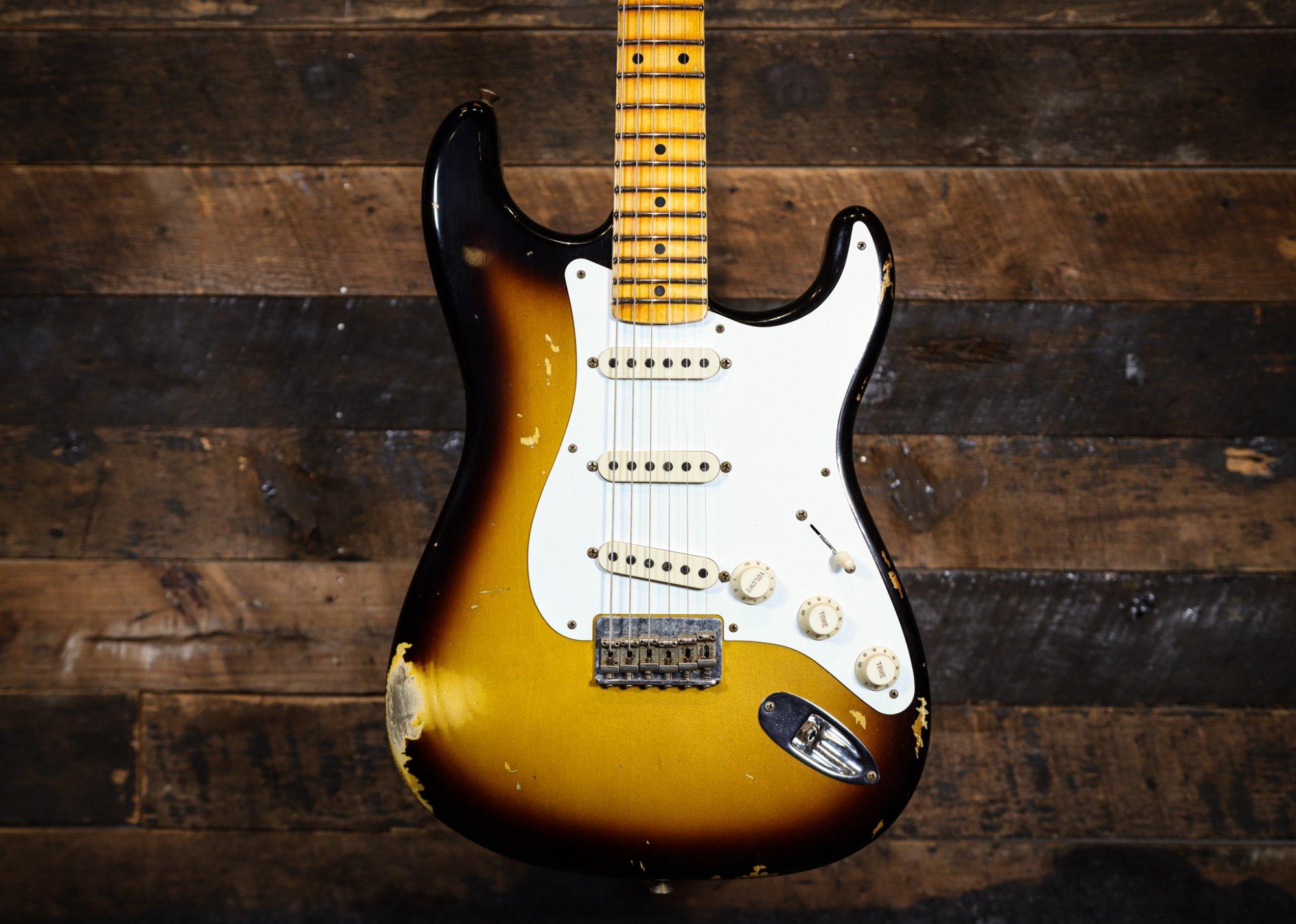 Fender Custom Shop Limited Edition 56' Troposphere Stratocaster Super Faded Aged Heavy Relic 2 tone Sunburst