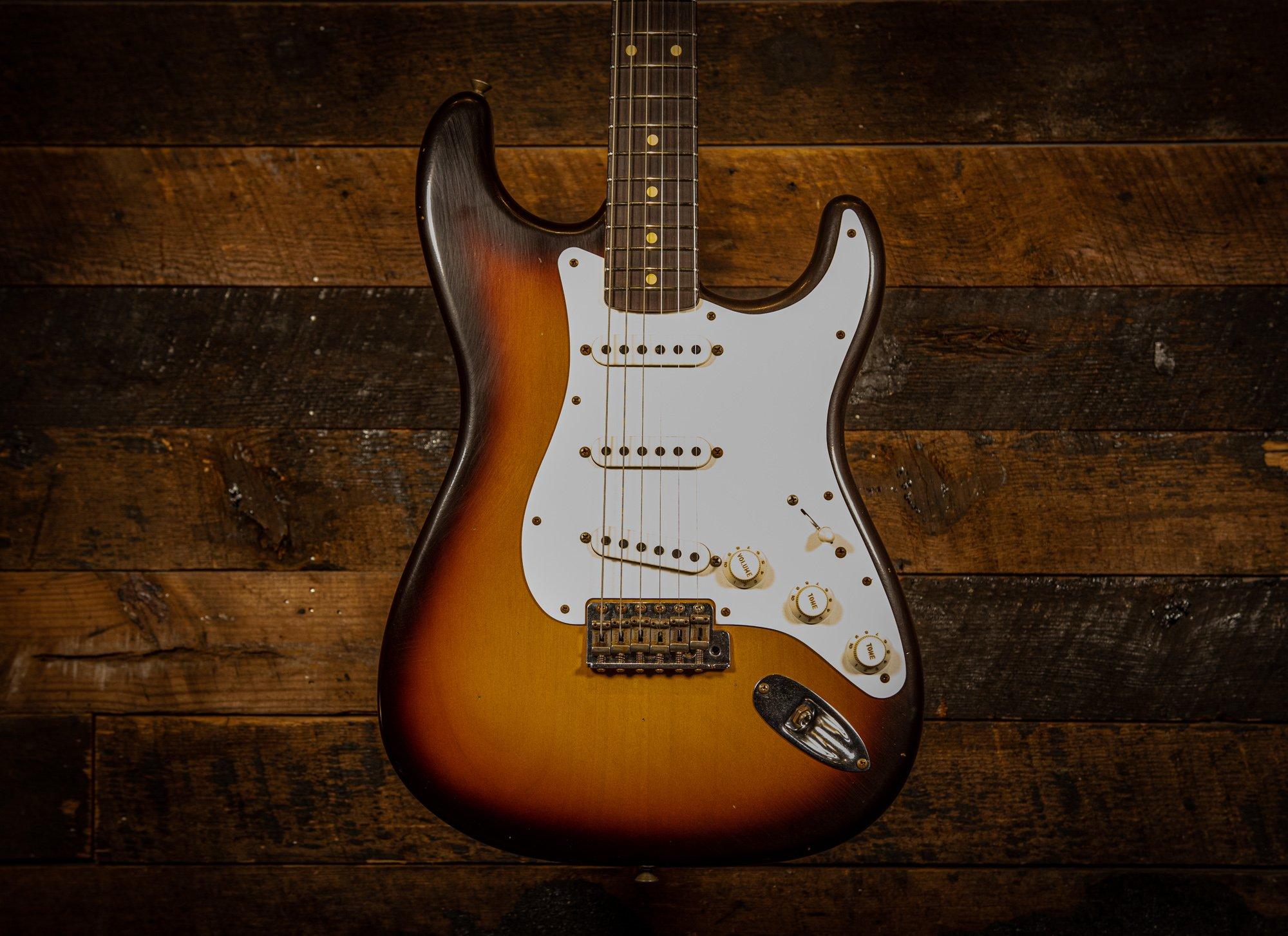 Fender Custom Shop 1959 Stratocaster Journeyman relic in Flashcoat Faded Aged Chocolate 3-tone Sunburst