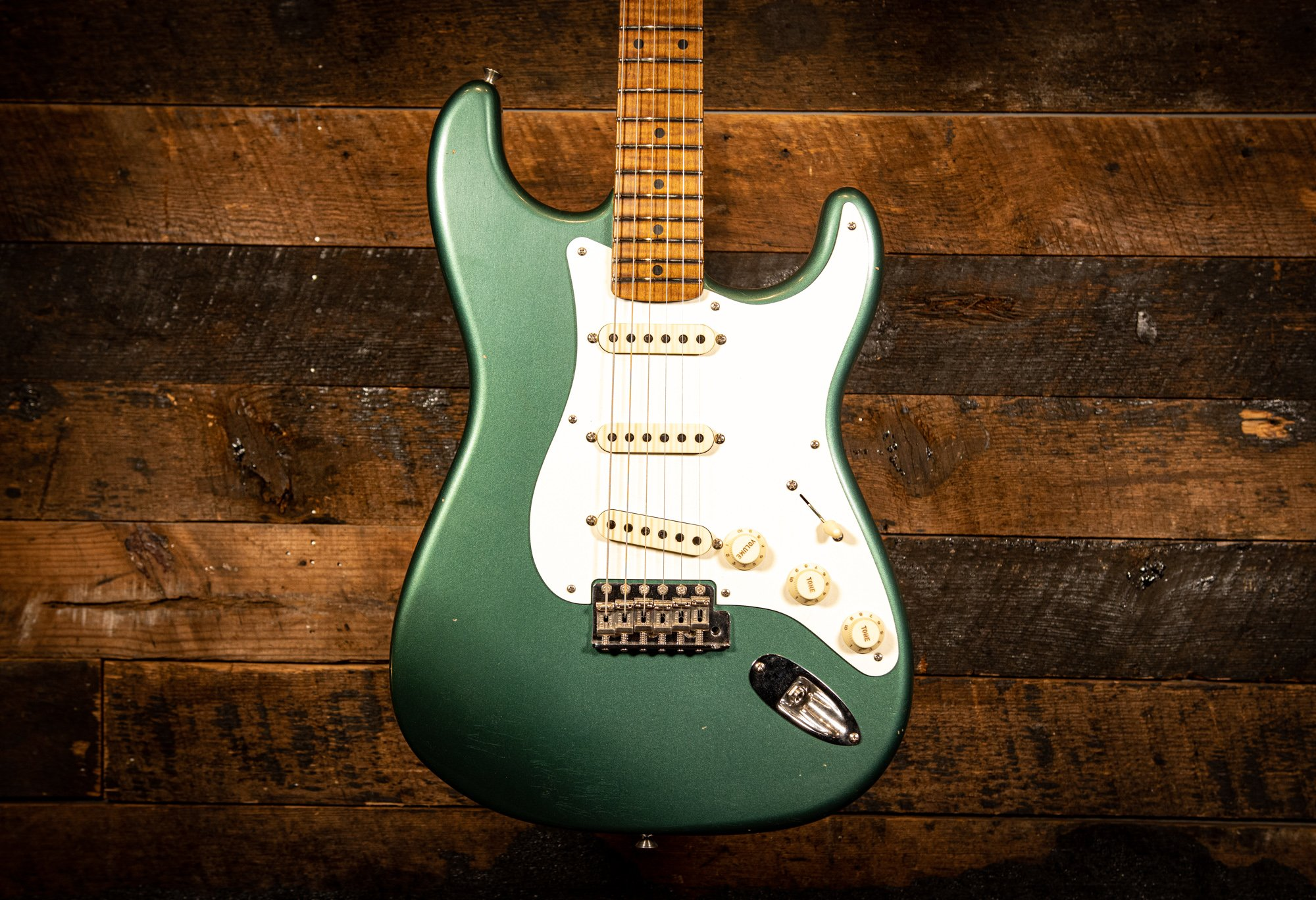 Fender Custom Shop limited 1958 Stratocaster Journeyman Relic in Sherwood Metallic