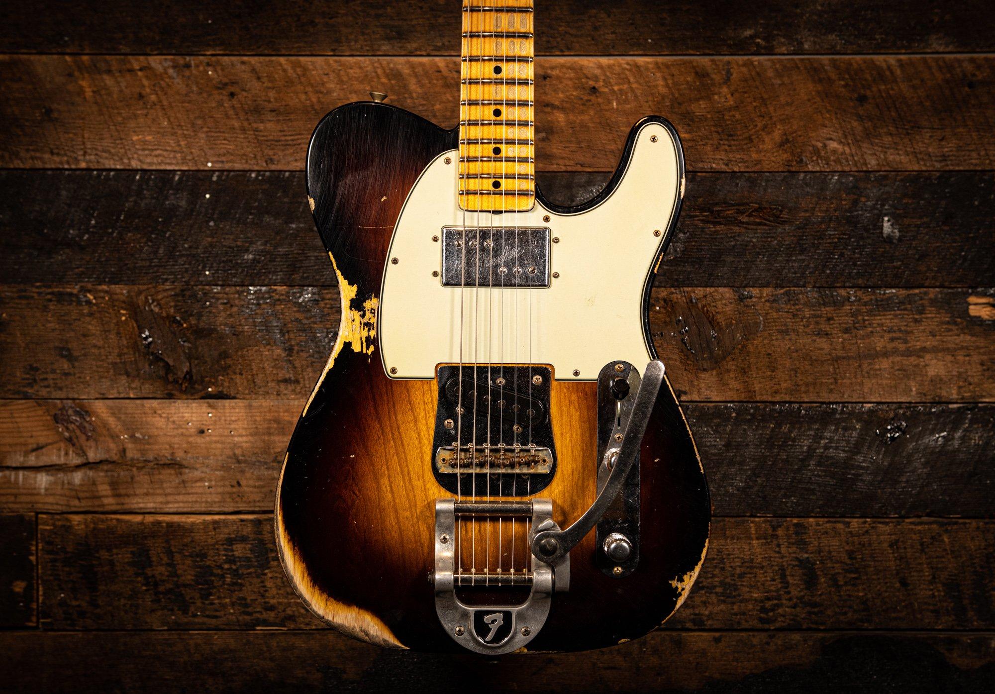 Fender Custom Shop LTD 1952 Telecaster CuNiFe Blackguard Heavy Relic in Wide-Fade 2-tone Sunburst