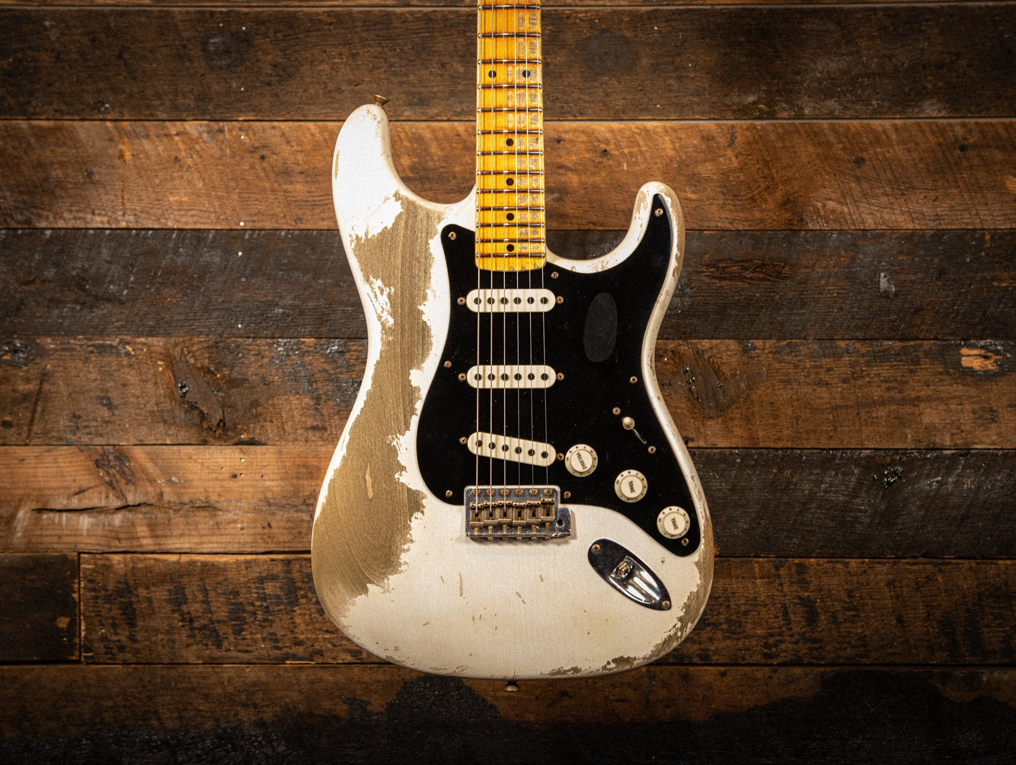Fender Custom Shop 1956 Poblano Stratocaster in Aged White Blonde