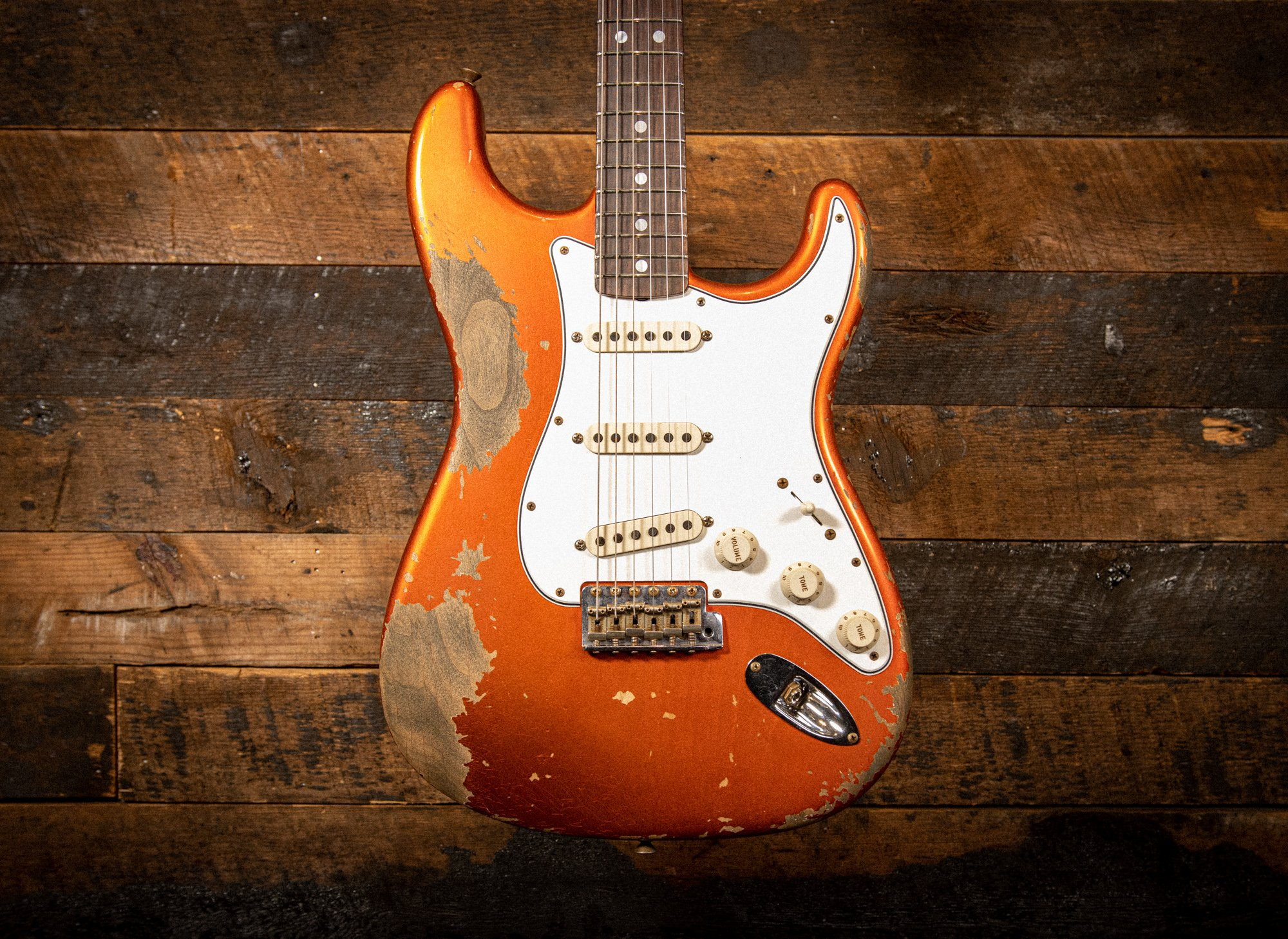 Fender Custom Shop 1969 Stratocaster Heavy Relic in Candy Tangerine with Reverse Headstock