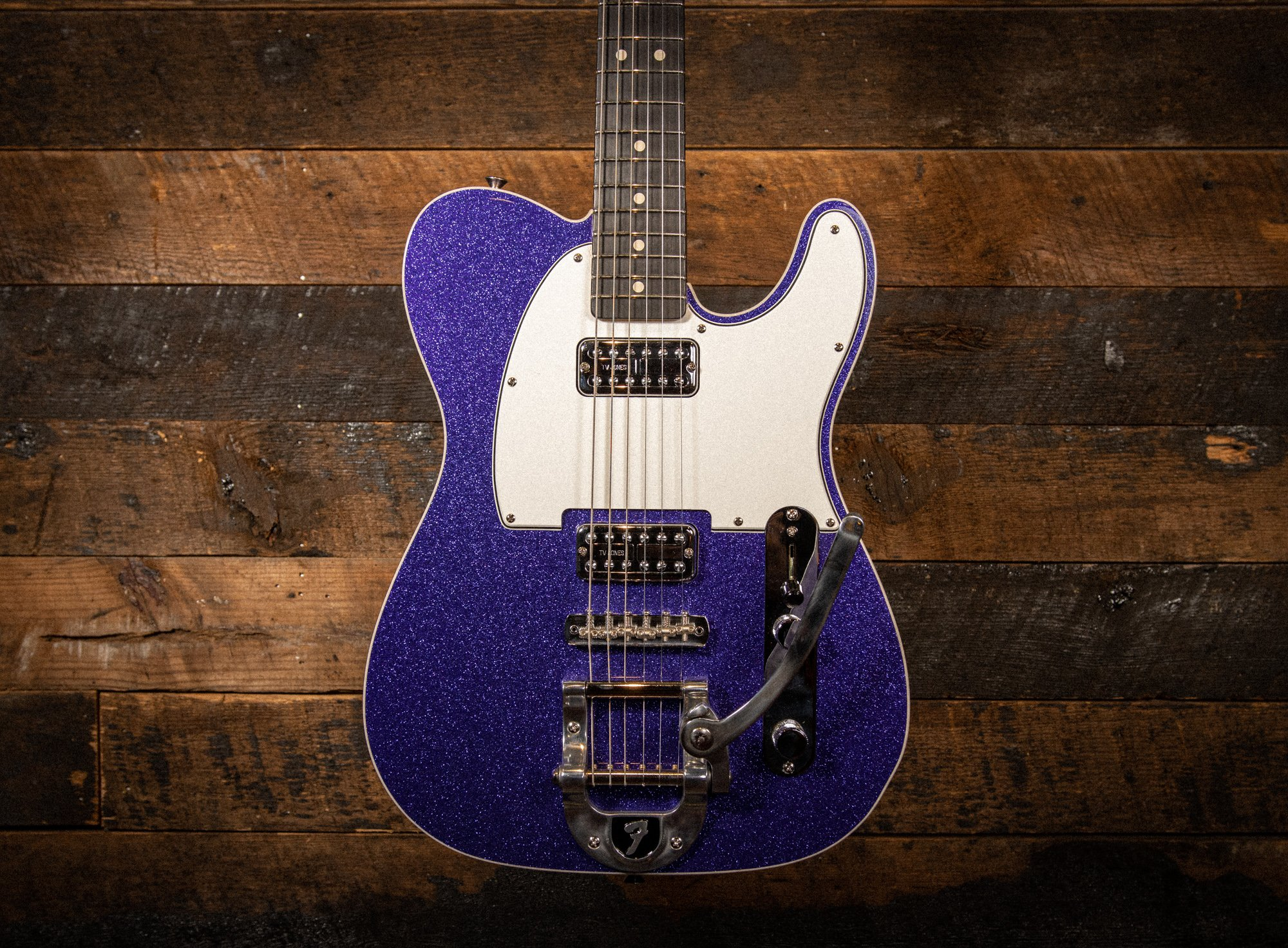Fender Custom Shop 1963 Telecaster NOS in Purple Sparkle with Matching Headstock with TV Jones Pick-ups and Bigsby
