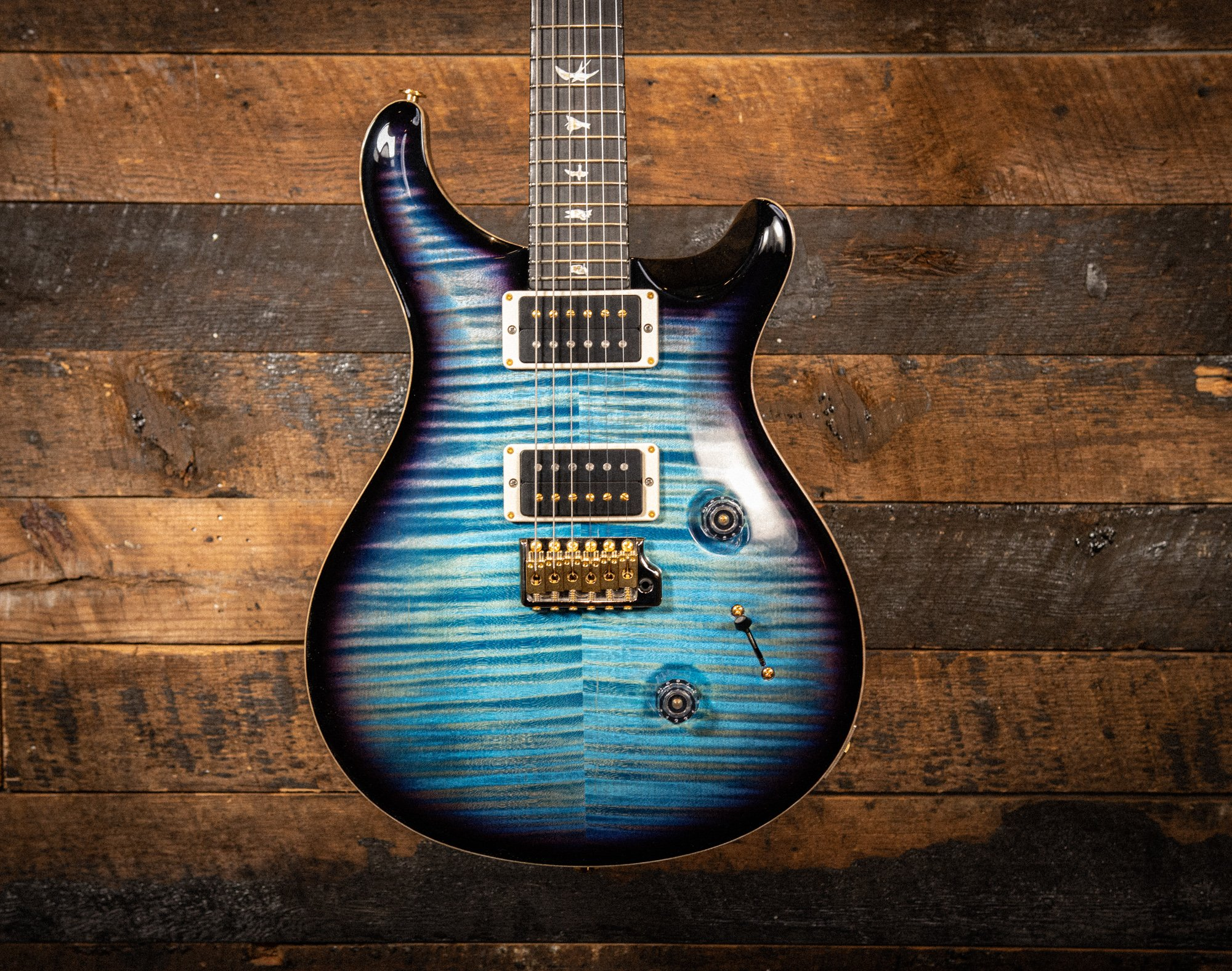 PRS Custom 24 in Aqua Blue Smokeburst