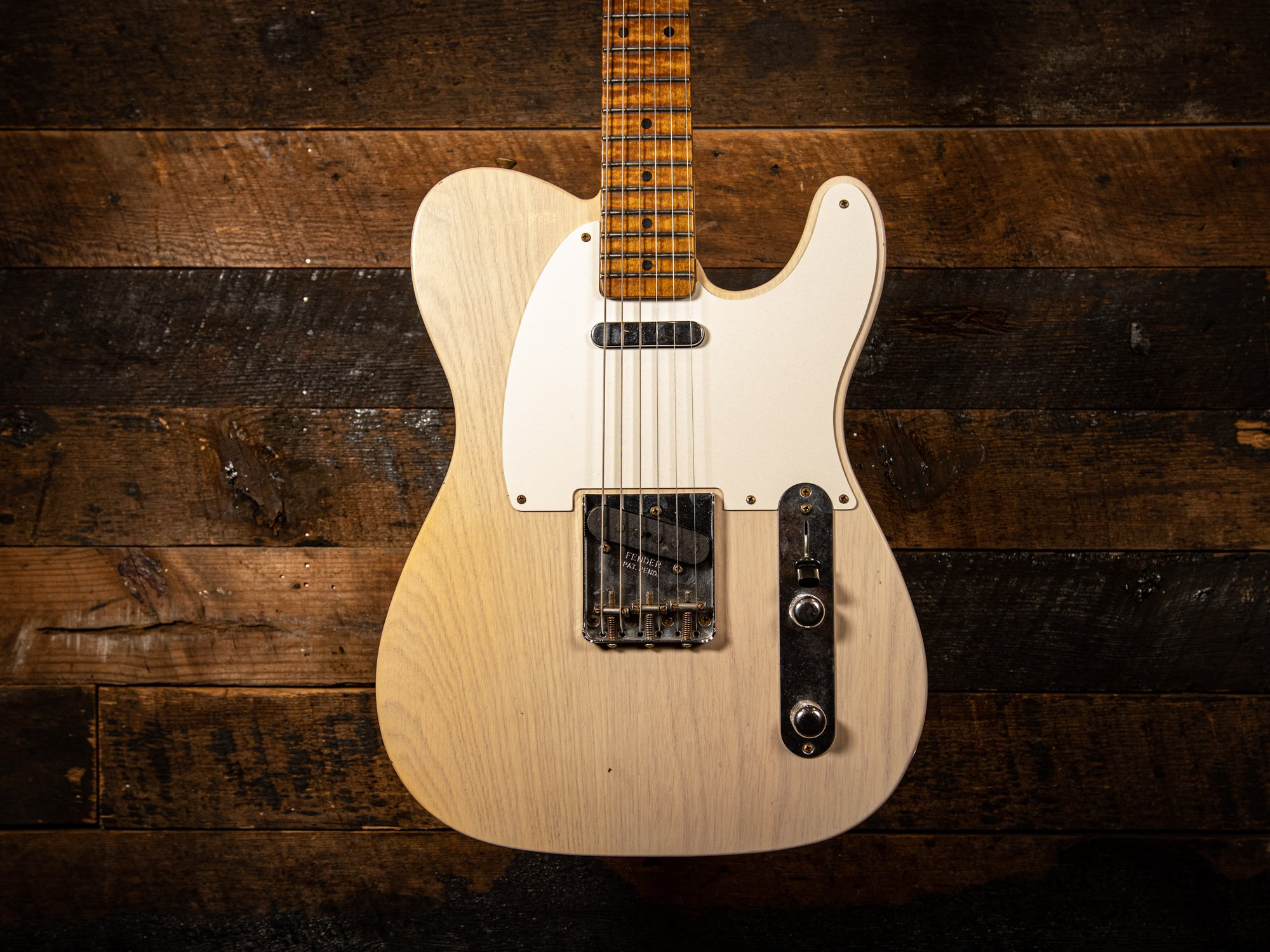 Fender Custom Shop 1955 Telecaster Journeyman Relic in Aged White Blonde