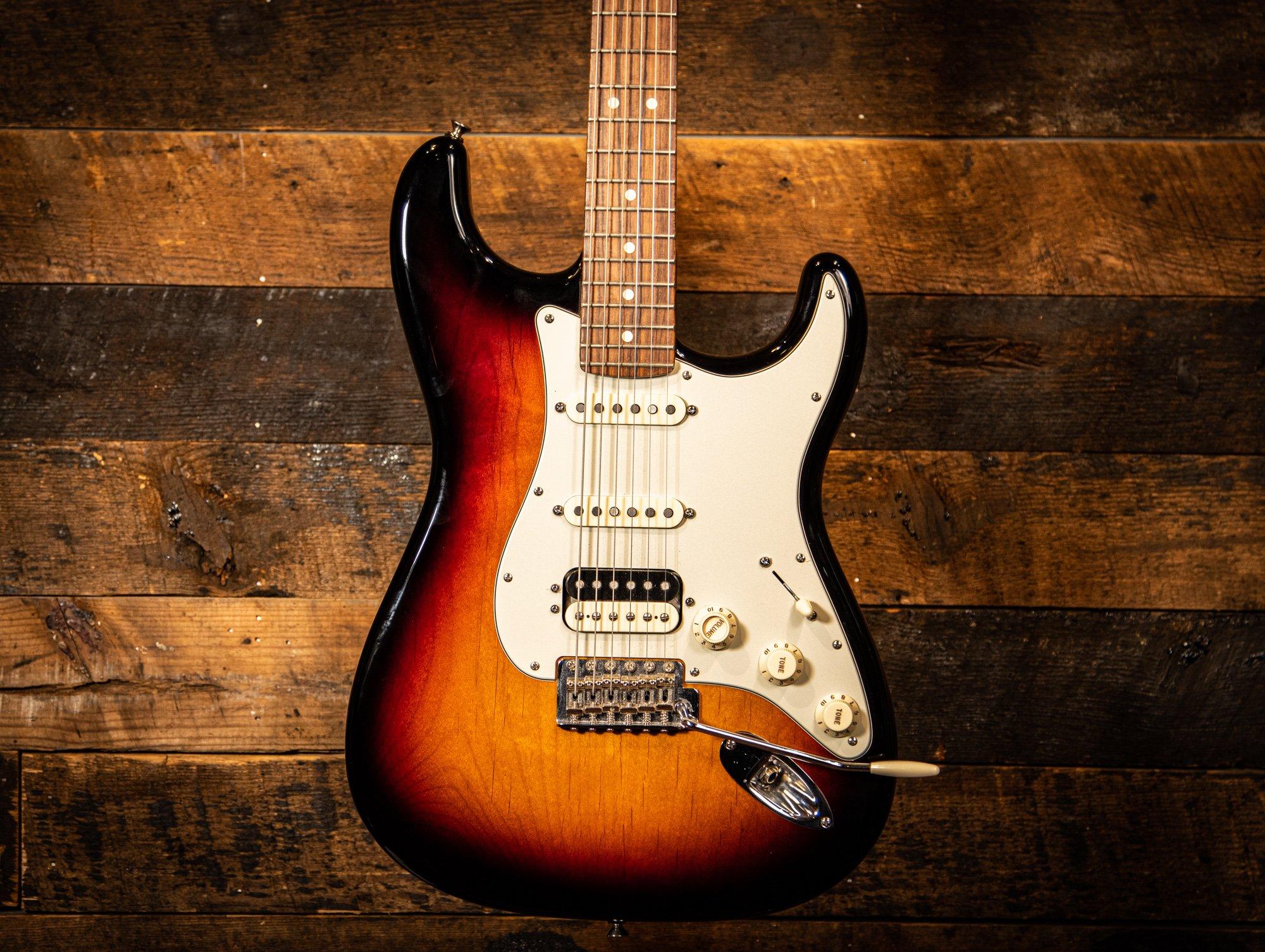 Pre Owned Fender American HSS Strat w/S1 Switch 3 Tone Sunburst