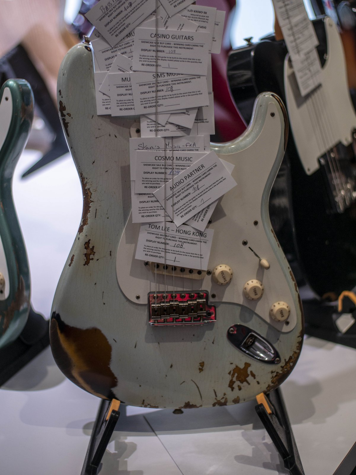 (Pre Order) NAMM SHOW 1956 Fender Custom Shop Stratocaster Super Faded/Aged Sonic Blue over 2tsb