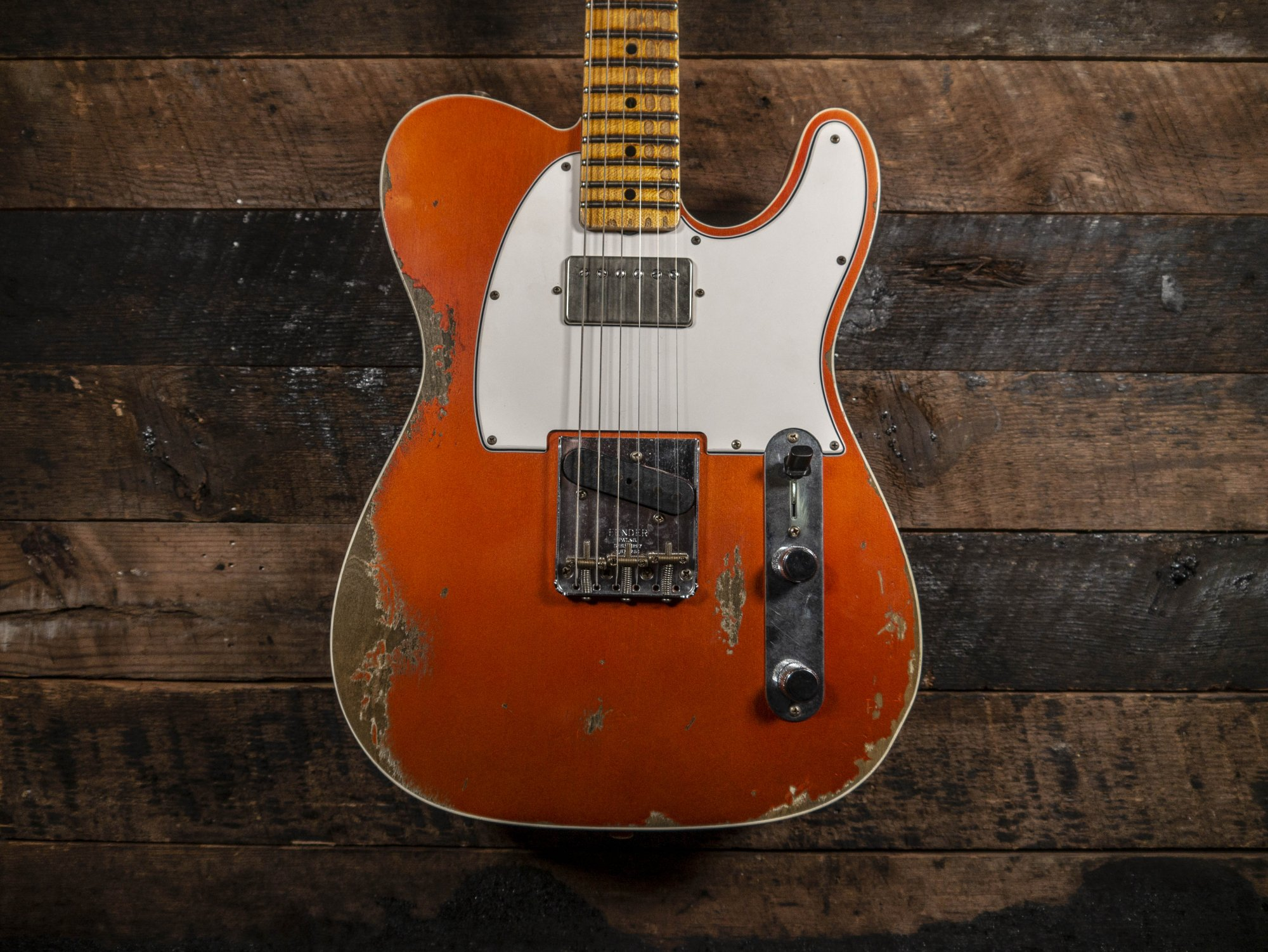 Fender Custom Shop 1965 HS Telecaster Faded/Aged Candy Tangerine