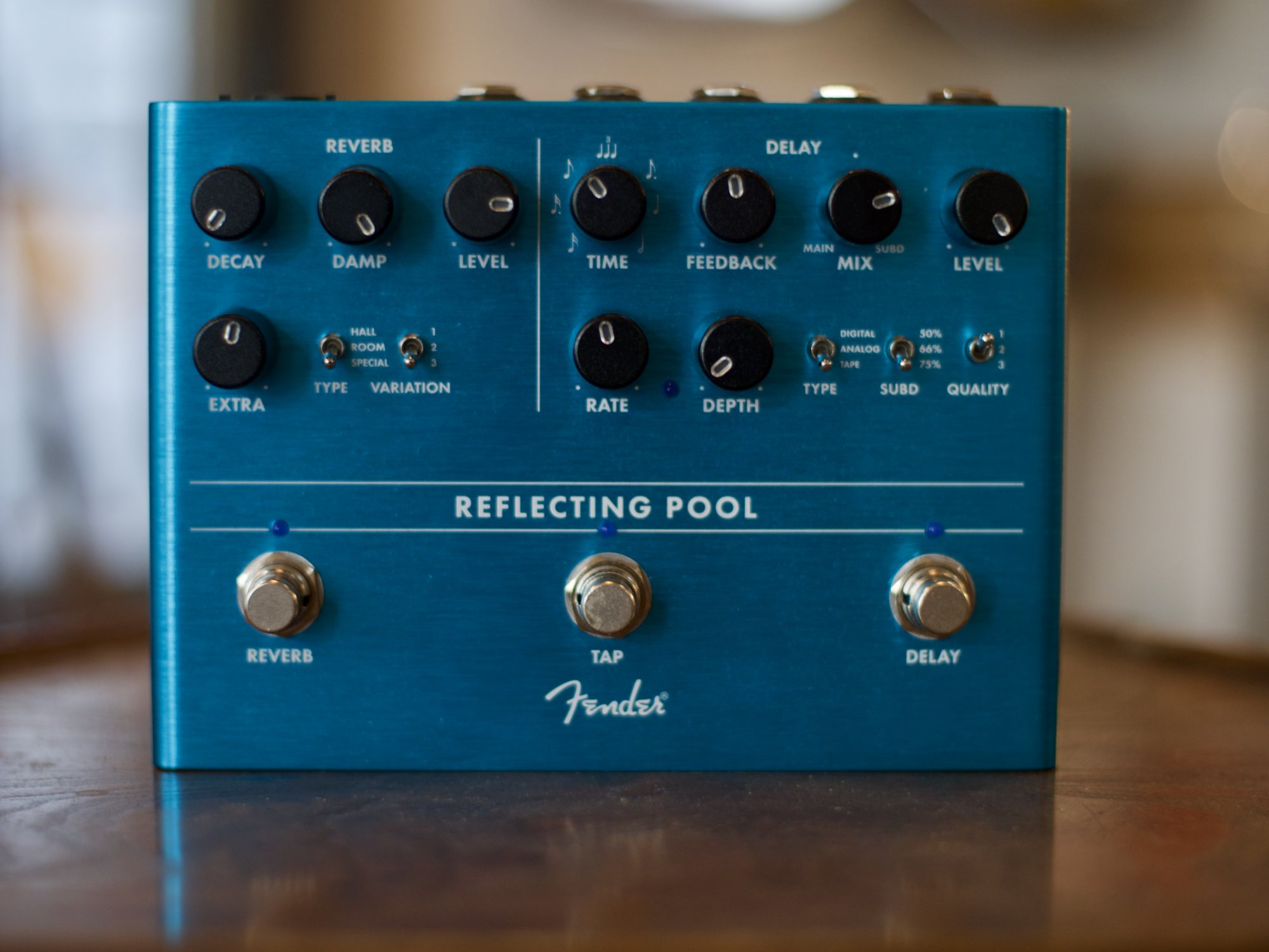 Fender Reflecting Pool Reverb and Delay Pedal