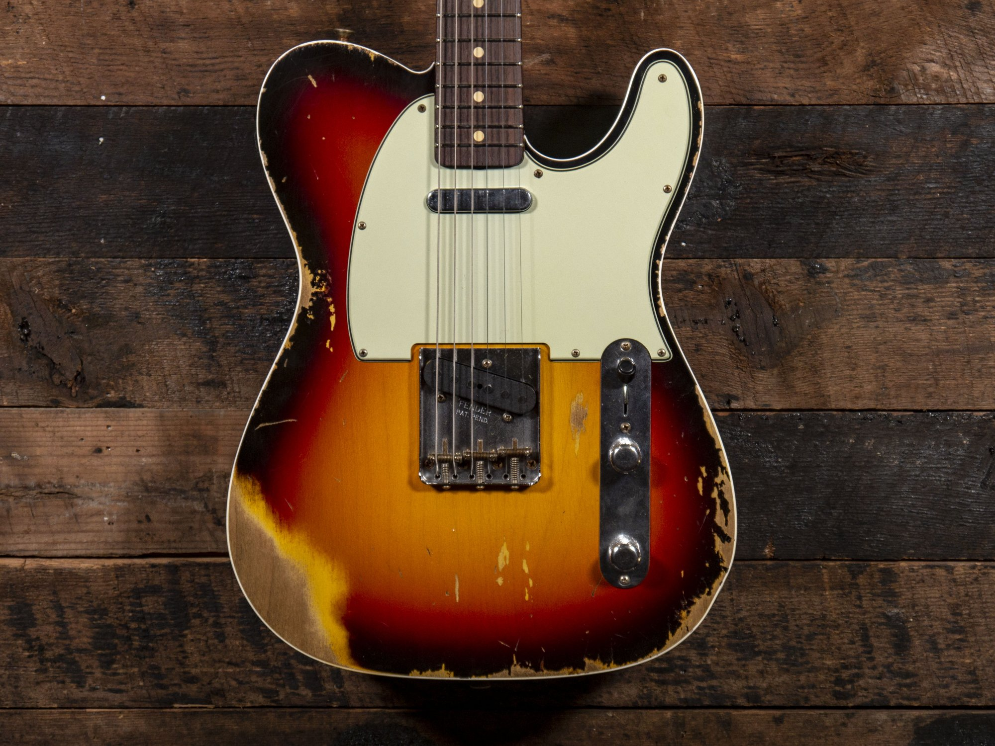 Fender Custom Shop 1960 Telecaster Custom Three Tone Sunburst Heavy Relic Serial Number (