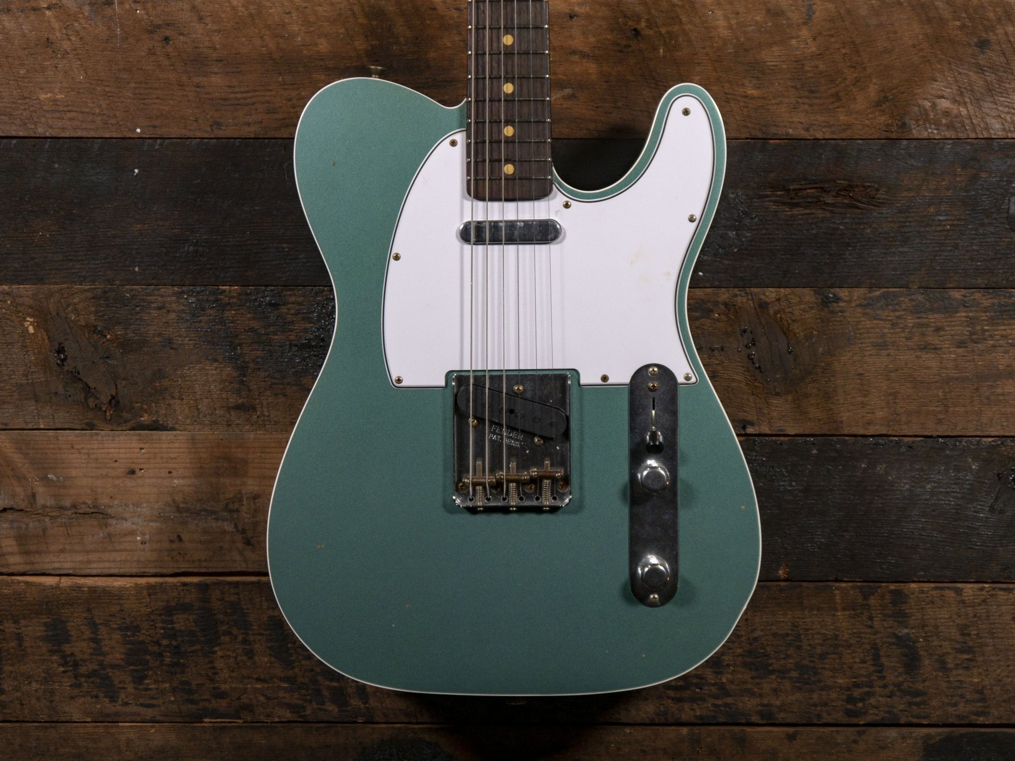 Fender Custom Shop 1960 Telecaster Faded Sherwood Green Metallic Journeyman Relic Handselected Serial Number ()