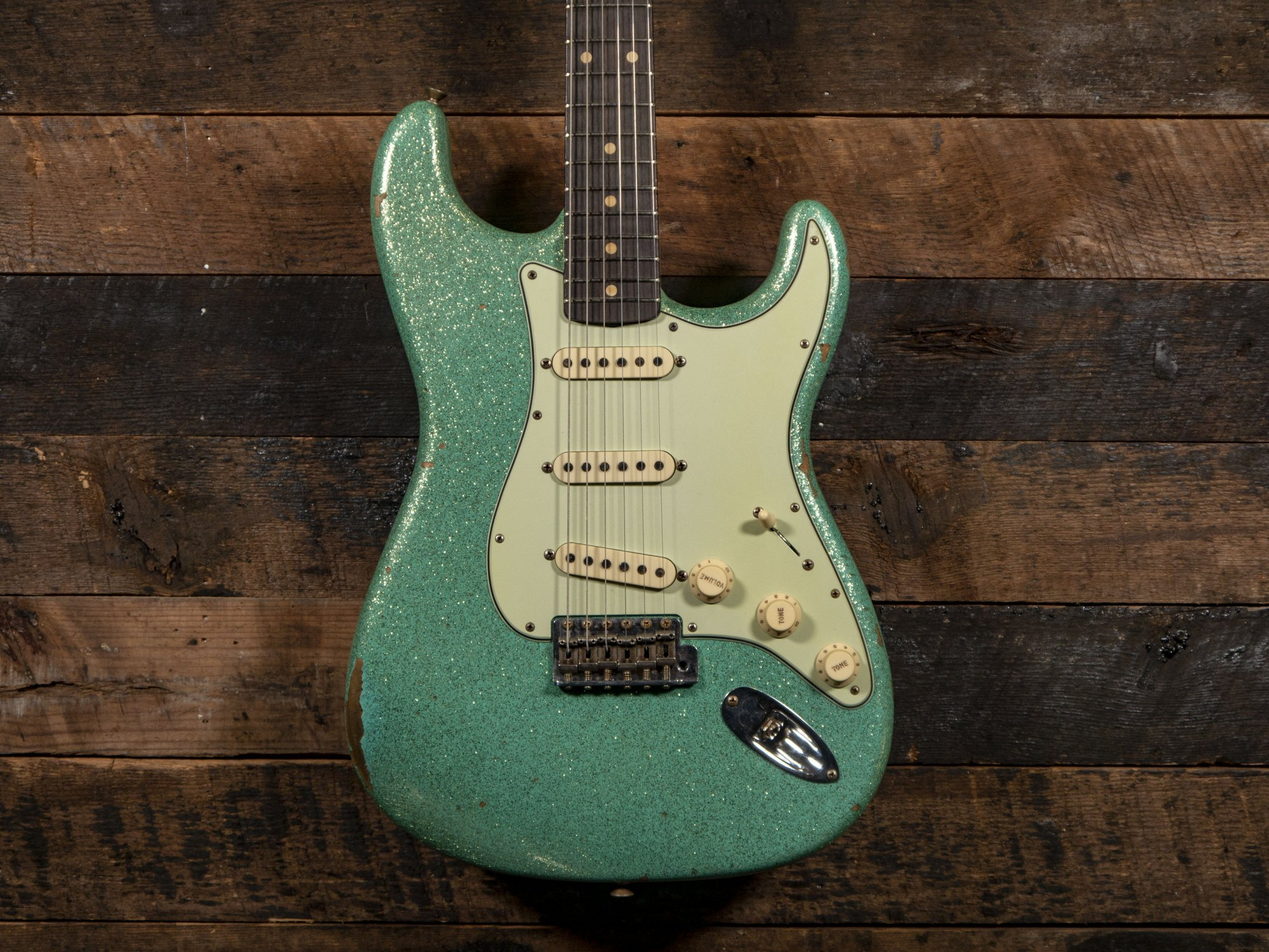 Fender Custom Shop Limited 1961 Stratocaster Hand-Selected Aged Sea Foam Green Sparkle