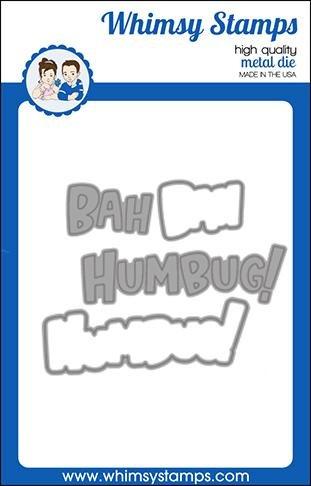 Whimsy Dies Bah Humbug! Word and Shadow Die Set