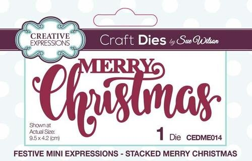 Mini Expressions Collection Stacked Merry Christmas