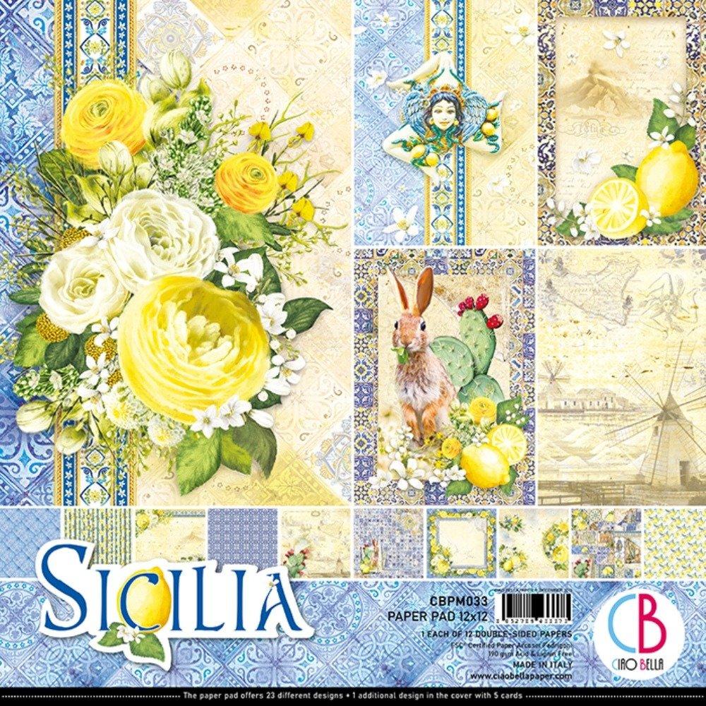 Ciao Bella 12X12 Paper Pad, Sicilia (12/Pkg)