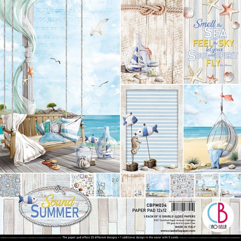 Ciao Bella 12X12 Paper Pad, Sound of Summer (12/Pkg)