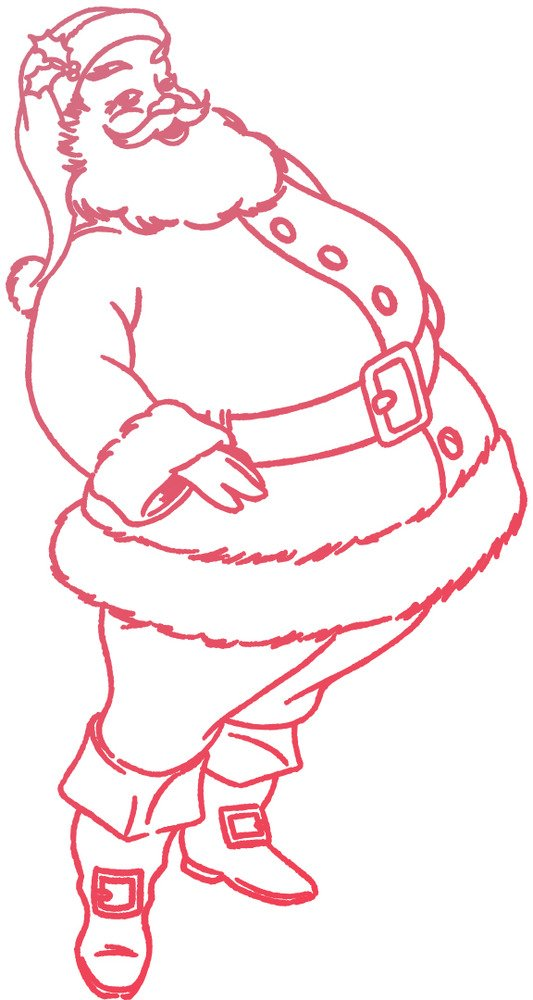 Couture Creations Mini Clear Stamp, Santa (1pc)