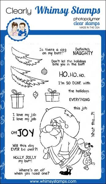 Whimsy Stamps Holly Jolly My Butt Clear Stamps